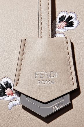 FENDI By The Way Medium embroidered leather tote