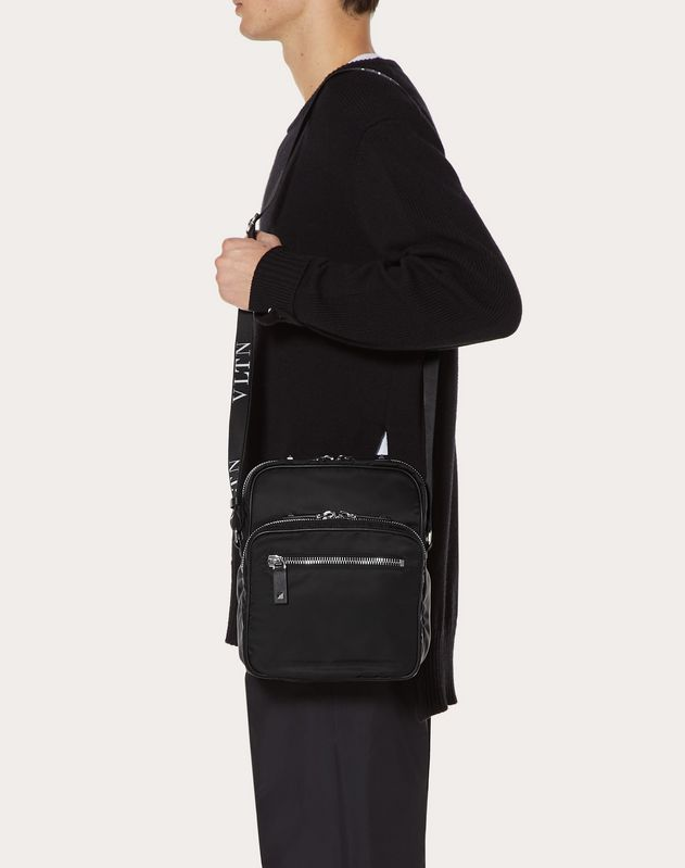 VLTN Nylon Crossbody Bag