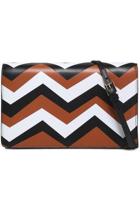 MISSONI Color-block leather shoulder bag