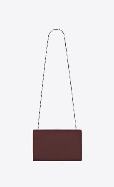 SAINT LAURENT MONOGRAM KATE Woman Medium Kate chain bag in textured dark red leather b_V4
