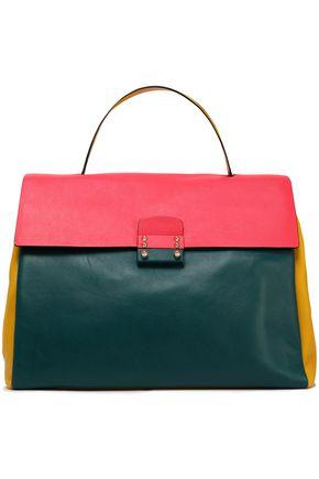 VALENTINO Color-block leather shoulder bag