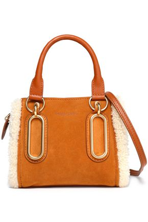 SEE BY CHLOÉ Shearling-trimmed suede shoulder bag