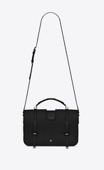 Large Charlotte Messenger Bag In Black Leather Context Http