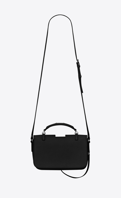 SAINT LAURENT Crossbody Woman medium charlotte messenger bag in black leather b_V4