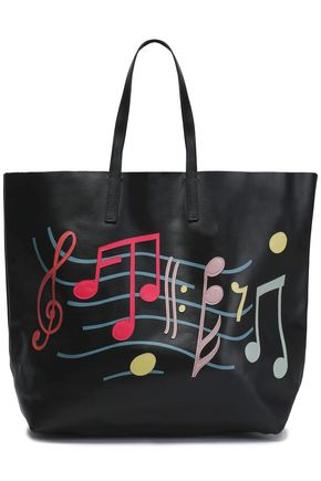 RED(V) Embroidered leather tote
