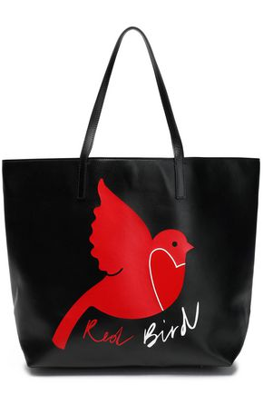 RED(V) Printed leather tote