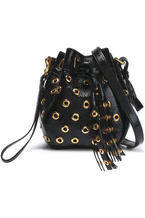 RED(V) Eyelet-embellished leather bucket bag