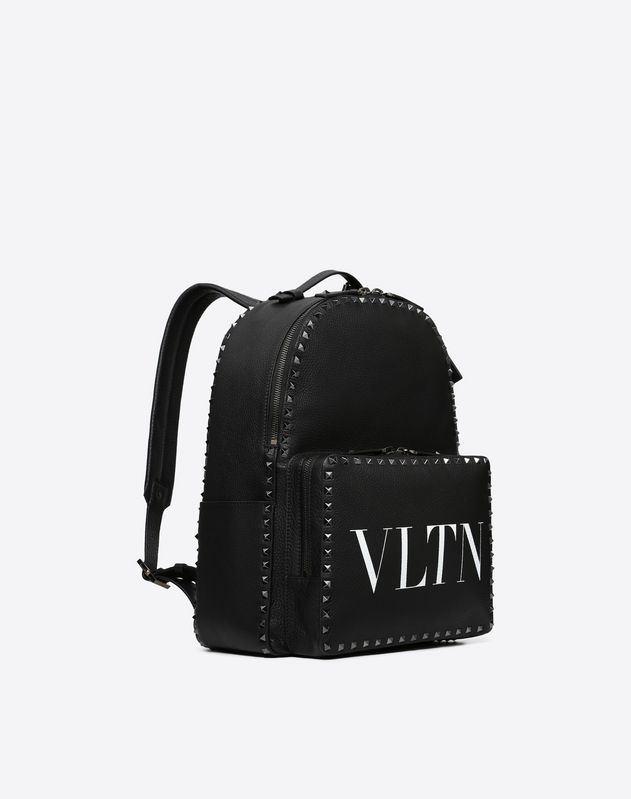 GRAIN CALFSKIN LEATHER VLTN BACKPACK WITH STUDS