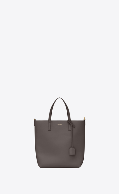 SAINT LAURENT Shopping Saint Laurent N/S Femme sac toy shopping en cuir gris earth a_V4