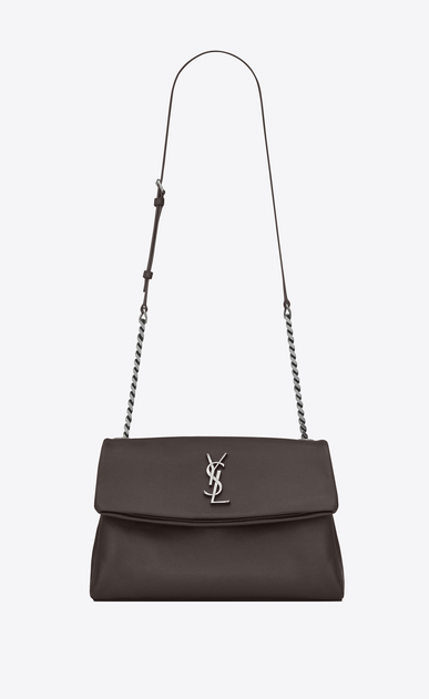 SAINT LAURENT West Hollywood Damen medium west hollywood bag in earth grey textured leather a_V4