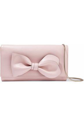 REDValentino Bow-embellished leather shoulder bag
