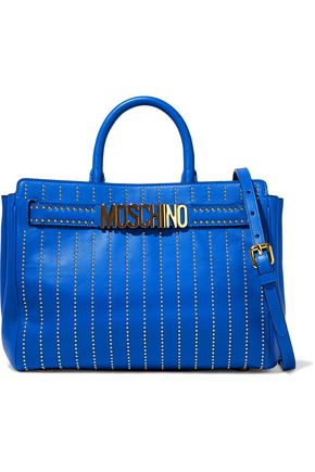 MOSCHINO Studded leather shoulder bag