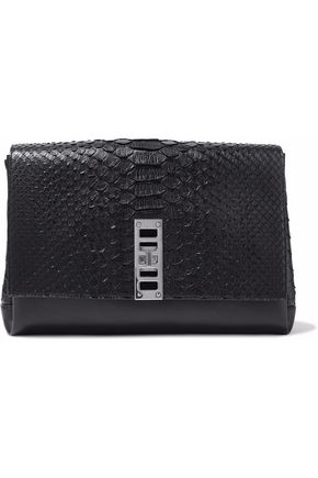 PROENZA SCHOULER Elliot python and leather clutch