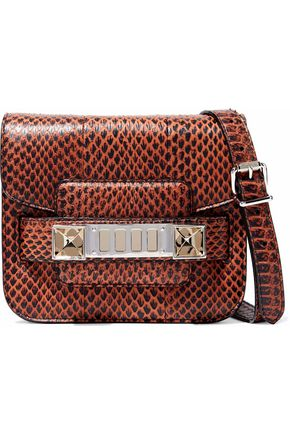 PROENZA SCHOULER PS11 Tiny snake-effect leather shoulder bag