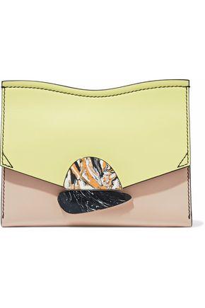 PROENZA SCHOULER Curl color-block leather clutch