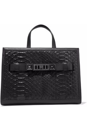 PROENZA SCHOULER PS11 leather-trimmed python tote