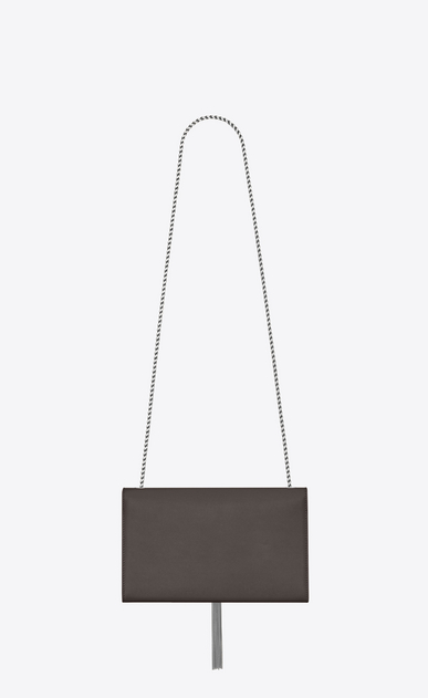 SAINT LAURENT MONOGRAM KATE WITH TASSEL Woman medium kate tassel chain bag in earth grey textured leather b_V4