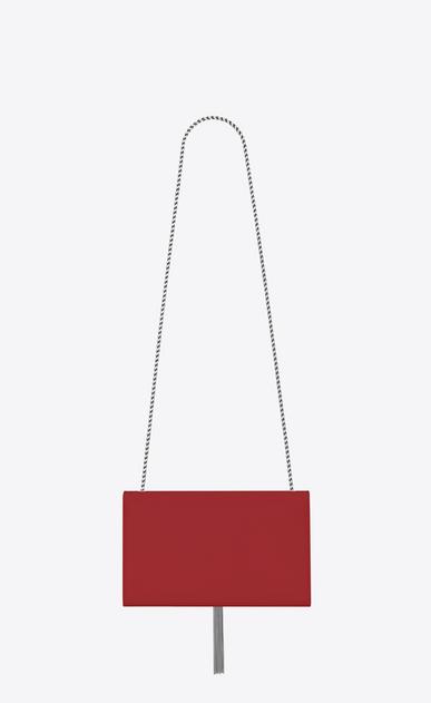 SAINT LAURENT MONOGRAM KATE WITH TASSEL Donna medium kate tassel chain bag in red textured leather b_V4