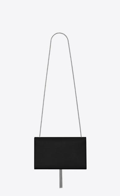 SAINT LAURENT MONOGRAM KATE WITH TASSEL Woman medium kate tassel chain bag in black textured leather b_V4