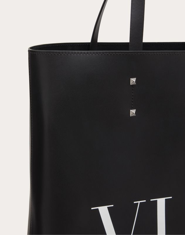 LEATHER VLTN TOTE