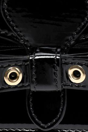 RED(V) Eyelet-embellished patent-leather clutch