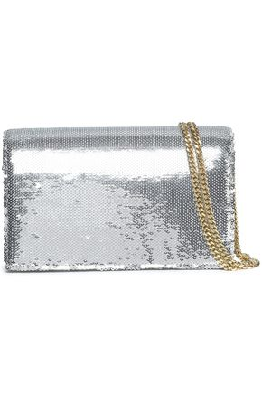 DIANE VON FURSTENBERG Sequined leather shoulder bag
