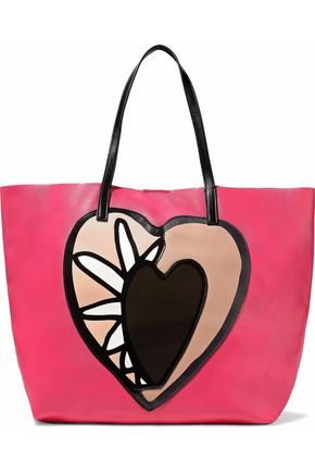 REDValentino Printed leather tote