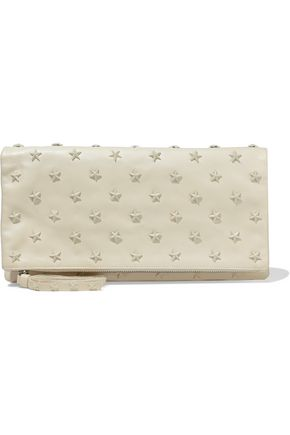 REDValentino Studded leather pouch