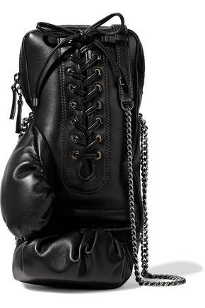 RED(V) Lace-up leather shoulder bag