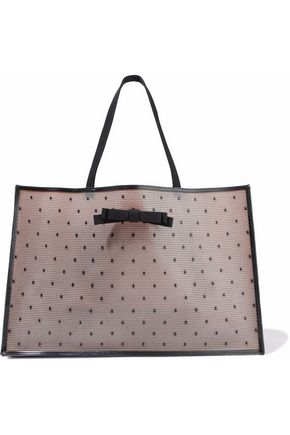 REDValentino Bow-embellished rubber tote