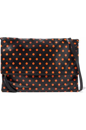 RED(V) Polka-dot leather wristlet