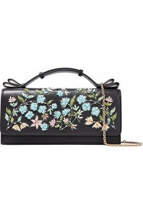 REDValentino Embellished leather shoulder bag