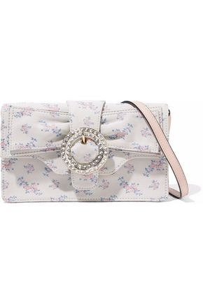REDValentino Embellished floral-jacquard shoulder bag
