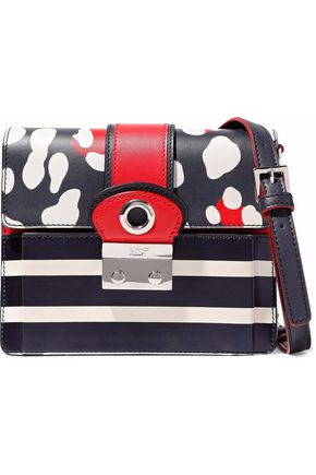 RED(V) Printed leather shoulder bag