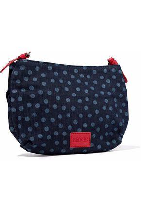 RED(V) Bow-embellished polka-dot denim shoulder bag