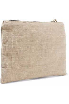 RED(V) Bow-embellished canvas pouch
