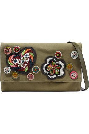 REDValentino Embellished canvas shoulder bag