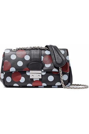 REDValentino Polka-dot leather shoulder bag