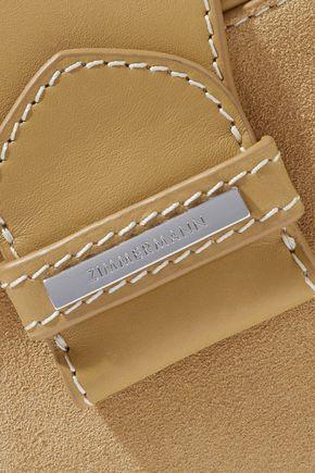 ZIMMERMANN Leather-trimmed suede shoulder bag