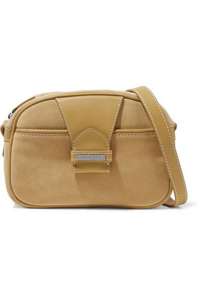 ZIMMERMANN Leather-paneled suede shoulder bag