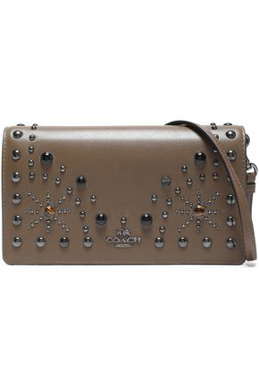 COACH Studded leather clutch