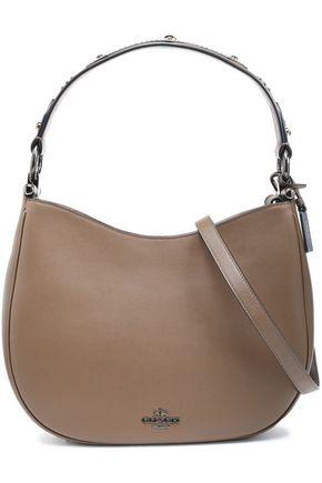 COACH Embellished leather shoulder bag
