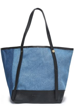 Leather Trimmed Denim Tote by See By ChloÉ