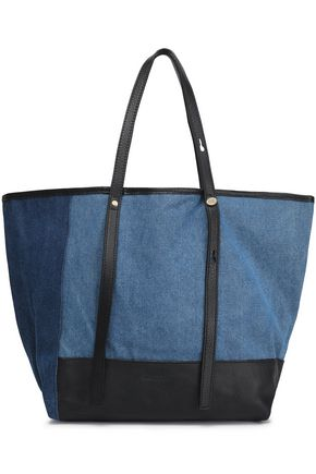 SEE BY CHLOÉ Andy leather-trimmed two-tone denim tote