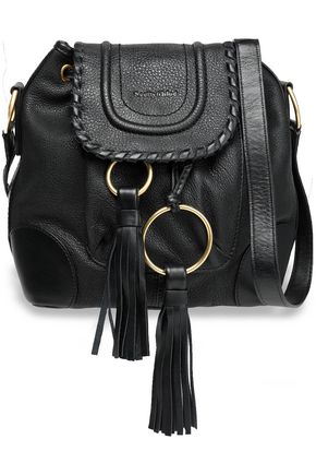 SEE BY CHLOÉ Polly tasseled textured-leather bucket bag