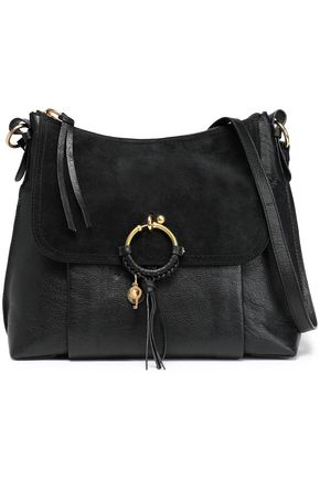 SEE BY CHLOÉ Suede-paneled leather shoulder bag