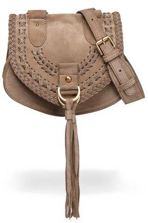 SEE BY CHLOÉ Fringe-trimmed suede shoulder bag