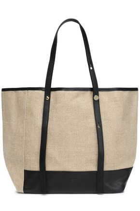 SEE BY CHLOÉ Leather-trimmed linen tote