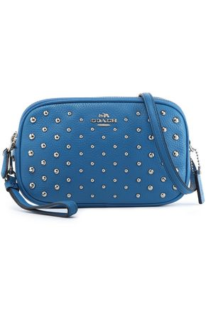 COACH Studded textured-leather shoulder bag