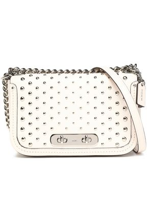 COACH Studded leather shoulder bag